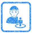 portal administrator framed stamp vector image vector image