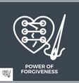 power forgiveness vector image