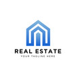real estate logo design eps 10 vector image vector image