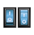 realistic toggle switch vector image