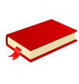 red book with bookmark vector image vector image