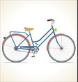retro vintage bicycle isolated on white background vector image vector image