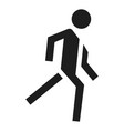 running man icon simple style vector image vector image