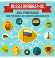 Russia infographic elements flat style vector image vector image