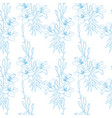 seamless floral pattern texture with lilies on vector image vector image