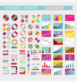 set of colorful infographic elements charts graph vector image