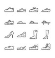 shoes line icon set vector image vector image