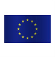 Simple Europe flag EU isolated on white background vector image