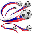 Slovakia flag with soccer ball vector image vector image