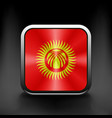 Square icon with flag of kyrgyzstan vector image vector image