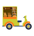 street food festival bakery trailer vector image