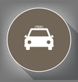 taxi sign white icon on vector image