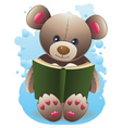 Teddy Bear with Book2 vector image vector image