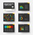 template for presentation slides 5 vector image vector image