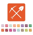 The crossing spade pickax icon Pickax and vector image vector image