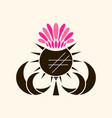 thistle medicinal plant on white vector image