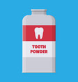 tooth powder in plastic package with teeth vector image vector image
