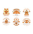 traditional bakery logo design collection daily vector image vector image