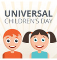 universal children day concept background cartoon vector image