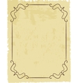 Vintage frame on beautiful background vector image vector image