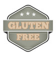 vintage gluten free badge logo or icon vector image