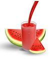 watermelon juice with splash isolated on white vector image vector image