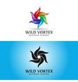 wild vortex logo template vector image vector image