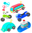 wind up vehicle vector image vector image