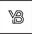 yb logo vector image vector image