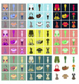 assembly flat icons clothes vector image