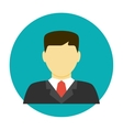 Lawyer avatar flat icon vector image