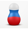 Russian tradition matrioshka dolls in flag style vector image