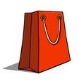 Red shopping bag on white vector image