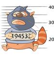 Cute Cat Gangster Criminal vector image