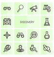 14 discovery icons vector image vector image