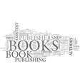 a brief history of the book text word cloud vector image vector image