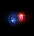 abstract circle sci fi futuristic technology vector image vector image
