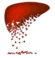abstract polygonal image of a sick liver vector image