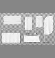 advertising banners flags blank white templates vector image