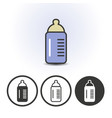 baby milk bottle icon vector image vector image