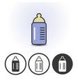 Baby milk bottle icon