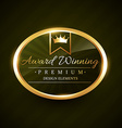 beautiful award winner golden label badge vector image vector image