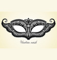 beautiful mask vector image vector image