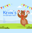 birthday party invitation card template cute vector image vector image