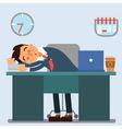 Businessman Working Day Sleeping Businessman vector image vector image