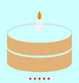 cake with candle it is icon vector image vector image