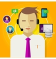 call center crm customer relationship management vector image