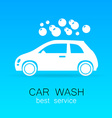 car wash sign logo vector image