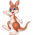 Cartoon cute kangaroo waving hand isolated vector image vector image