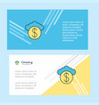 cloud dollar abstract corporate business banner vector image